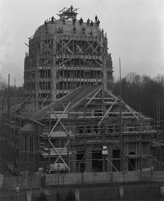 Während der Bauarbeiten 1910/11