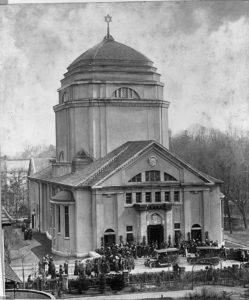 Foto: Noch mit Stern - Weihe der Görlitzer Synagoge 1911, © Ratsarchiv Görlitz